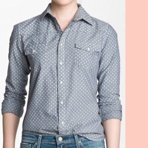 Joe's Jeans polka dot chambray shirt